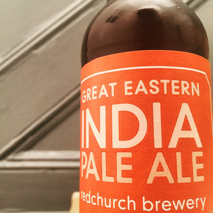 Great Eastern IPA is decorated in a resplendent ochre label
