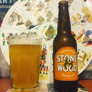 Stone and Wood Pacific Ale on Boxing Day - Cheers to the Australian summer!