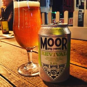 Moor Beers Revival, a 3.8% ABV Transatlantic Pale Ale