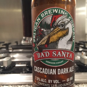 My festive choice, Pelican Brewing's Bad Santa