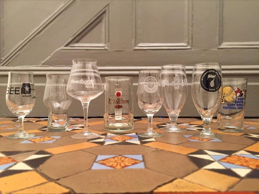 My beer glassware
